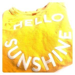 "Old Navy ""hello sunshine"" sweat shirt w/front tie"